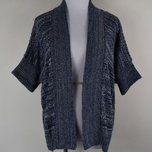 New Directions PM Open Front Open Knit Cardigan